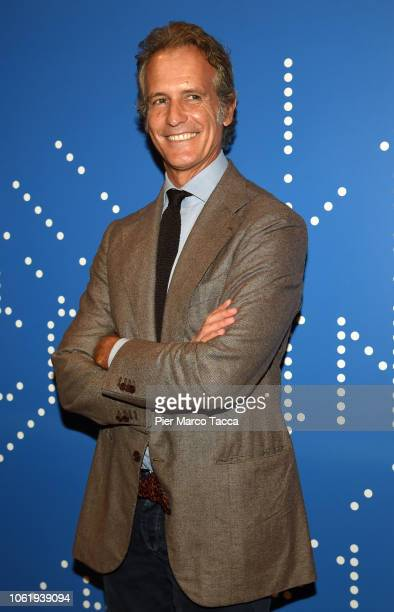 Alessandro Benetton President of the Cortina Foundation 2021 attends the FIS Alpine World Ski Championships 2021 Press Conference on November 15 2018...