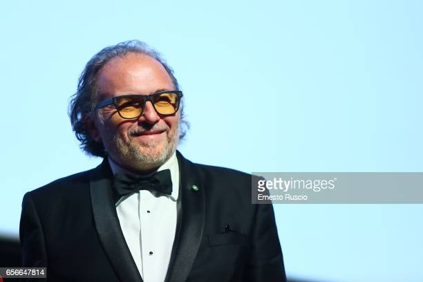 Alessandro Bertolazzi recives the Nastro D'Argento 70th at Auditorium Parco Della Musica on March 22 2017 in Rome Italy