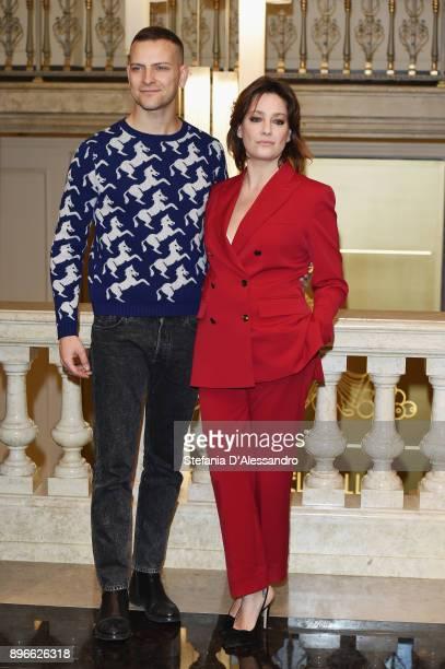 Alessandro Borghi and Giovanna Mezzogiorno attend 'Napoli Velata' photocall on December 21 2017 in Milan Italy