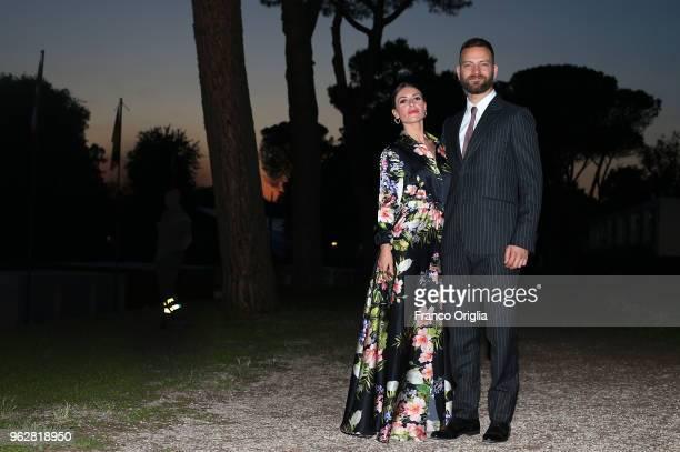 Alessandro Borghi and Roberta Pironi attend the Vanity Fair party during the 86th Concorso Ippico Internazionale Piazza Di Siena at Villa Borghese on...