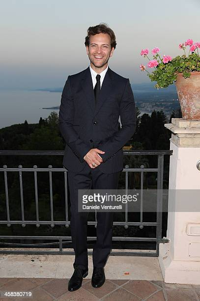 Alessandro Borghi and Roberta Pitrone attend a cocktail party ahead of Nastri D'Argento on July 2 2016 in Taormina Italy