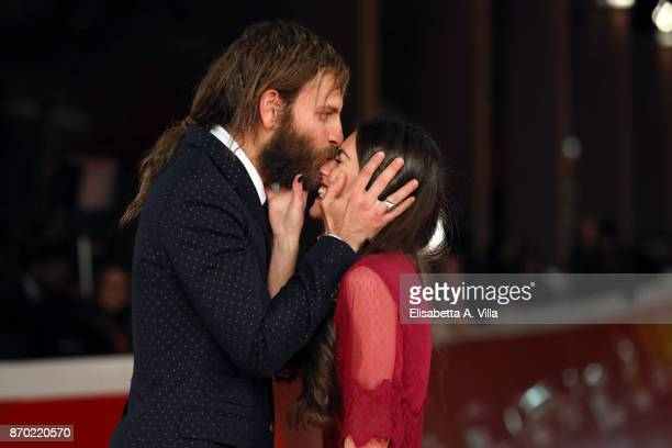 Alessandro Borghi and Roberta Pitrone walk a red carpet for 'The Place' during the 12th Rome Film Fest at Auditorium Parco Della Musica on November 4...