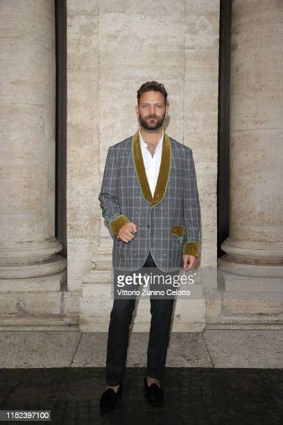 Alessandro Borghi arrives at the Gucci Cruise 2020 at Musei Capitolini on May 28 2019 in Rome Italy