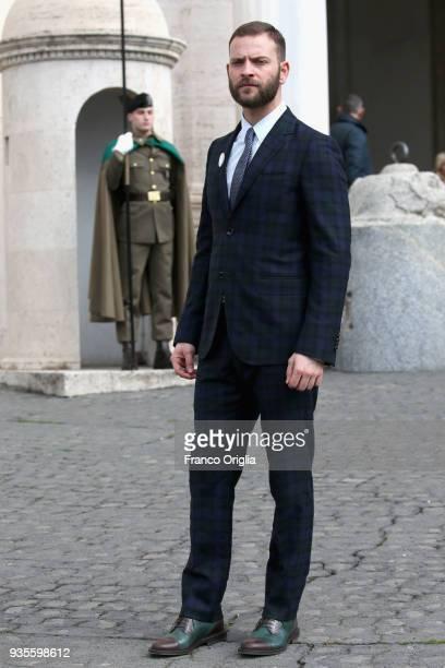 Alessandro Borghi arrives for the David Di Donatello nominees presentation at Palazzo del Quirinale on March 21 2018 in Rome Italy