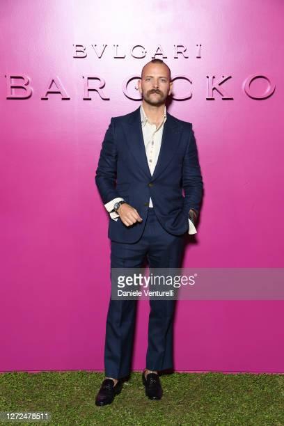 Alessandro Borghi attends Bulgari Barocco on September 14, 2020 in Rome, Italy.