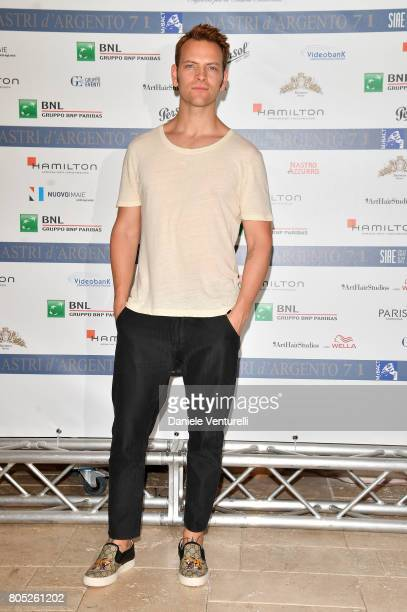 Alessandro Borghi attends Nastri D'Argento 2017 Press Conference on July 1 2017 in Taormina Italy
