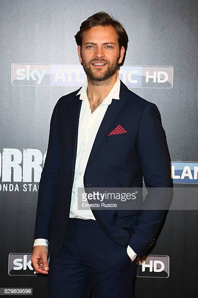 Alessandro Borghi attends the 'Gomorra' Tv Show premiere at Teatro Dell'Opera on May 09, 2016 in Rome.