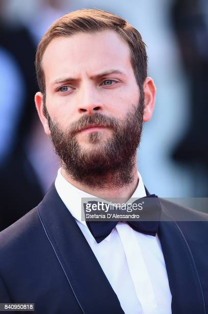 Alessandro Borghi walks the red carpet ahead of the 'Downsizing' screening and Opening Ceremony during the 74th Venice Film Festival at Sala Grande...
