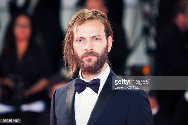 Alessandro Borghi walks the red carpet ahead of the 'Loving Pablo' screening during the 74th Venice Film Festival at Sala Grande on September 6 2017...