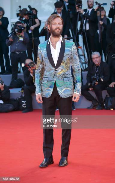 Alessandro Borghi walks the red carpet ahead of the 'mother!' screening during the 74th Venice Film Festival at Sala Grande on September 5, 2017 in...