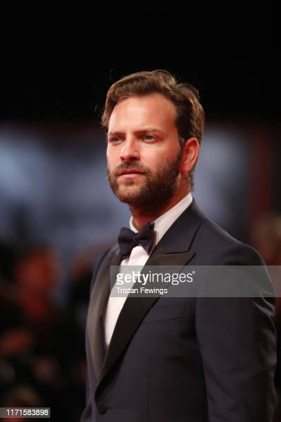 Alessandro Borghi walks the red carpet ahead of the Wasp Network screening during the 76th Venice Film Festival at Sala Grande on September 01 2019...