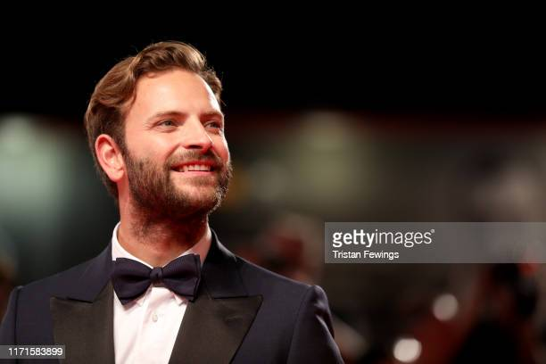 """Alessandro Borghi walks the red carpet ahead of the """"Wasp Network"""" screening during the 76th Venice Film Festival at Sala Grande on September 01,..."""