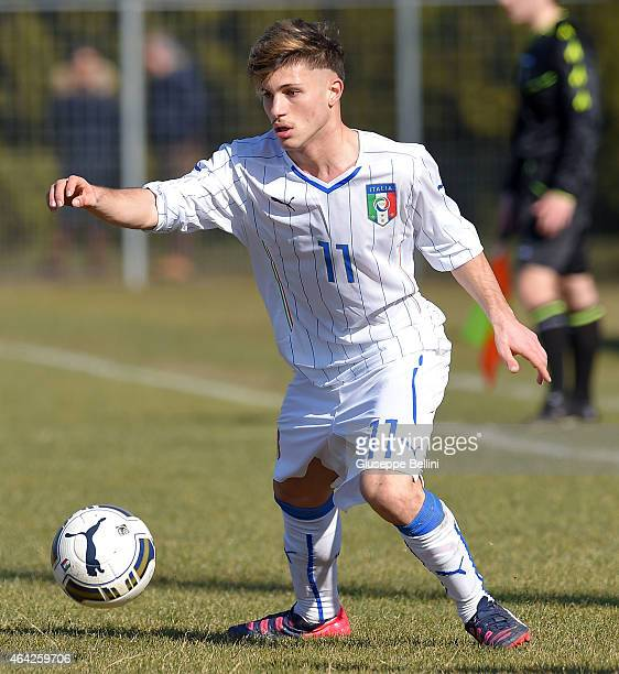 Alessandro Carnicelli of Italy in action during the international friendly match between Italy U16 and Croatia U16 on February 19 2015 in Monfalcone...
