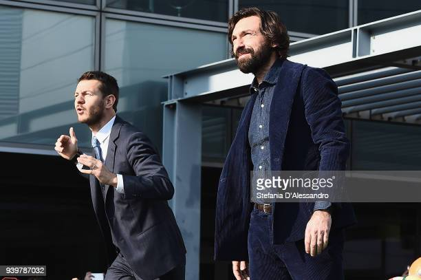 Alessandro Cattelan and Andrea Pirlo attend E poi c'e' Cattelan TV Show on March 29 2018 in Milan Italy