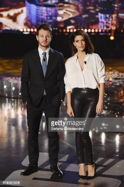 Alessandro Cattelan and Giulia Bevilacqua attend 'E Poi C'e Cattelan' tv show on February 14 2018 in Milan Italy