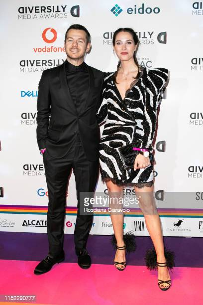 Alessandro Cattelan and Ludovica Sauer attend the Diversity Media Awards 2019 at Alcatraz on May 28 2019 in Milan Italy