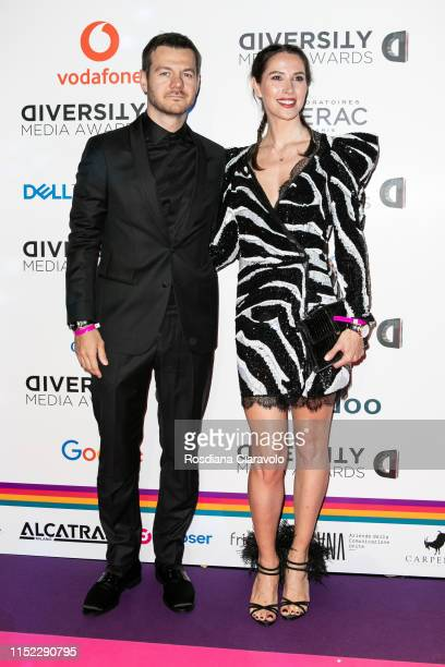 Alessandro Cattelan and Ludovica Sauer attend the Diversity Media Awards 2019 at Alcatraz on May 28, 2019 in Milan, Italy.