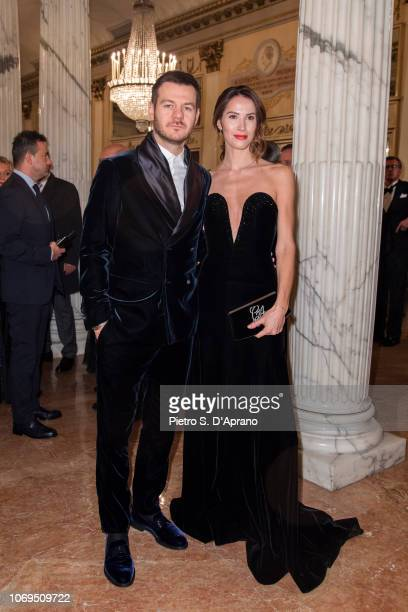 Alessandro Cattelan and Ludovica Sauer attends the 'Prima Alla Scala' at Teatro Alla Scala on December 7 2018 in Milan Italy