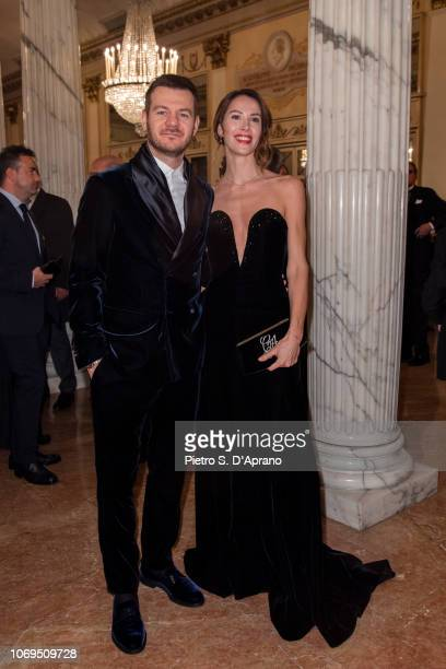 Alessandro Cattelan and Ludovica Sauer attends the Prima Alla Scala at Teatro Alla Scala on December 7 2018 in Milan Italy
