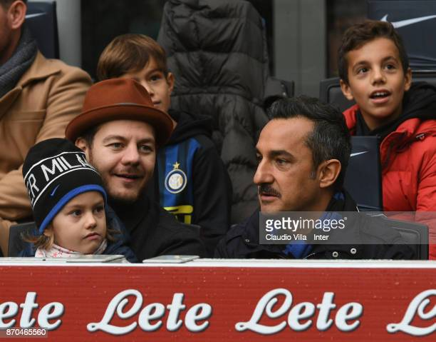 Alessandro Cattelan and Nicola Savino attend the Serie A match between FC Internazionale and Torino FC at Stadio Giuseppe Meazza on November 5 2017...