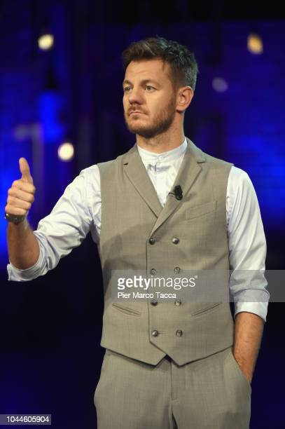 Alessandro Cattelan attends 'E Poi C'è¨ Cattelan' tv show at Teatro Parenti on October 2 2018 in Milan Italy