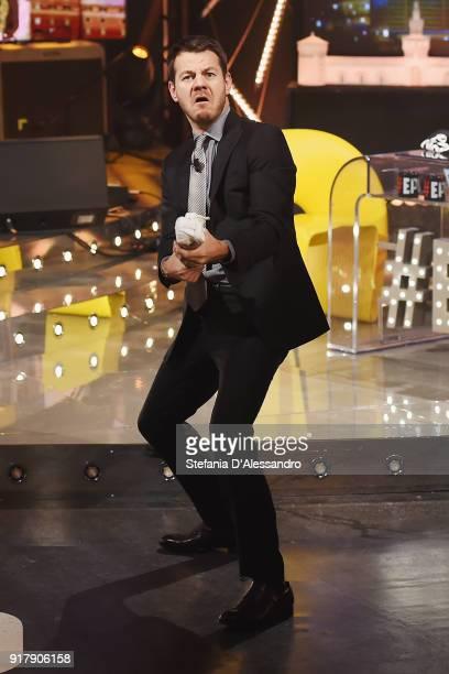 Alessandro Cattelan attends 'E Poi C'e Cattelan' tv show on February 13 2018 in Milan Italy