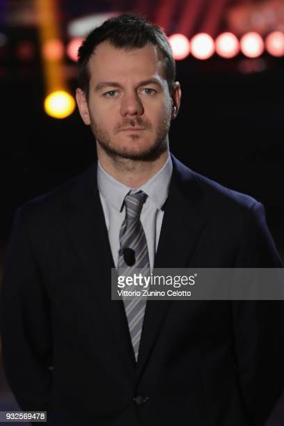 Alessandro Cattelan attends 'E Poi C'e' Cattelan' tv show on March 15 2018 in Milan Italy