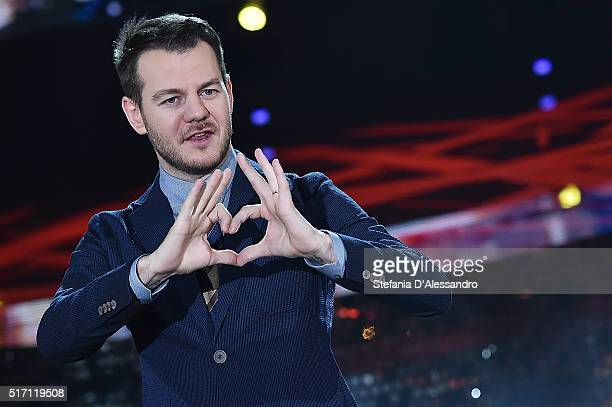 Alessandro Cattelan attends E poi c'e' Cattelan Tv Show on March 23 2016 in Milan Italy