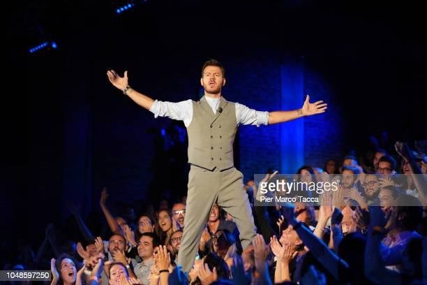Alessandro Cattelan attends the recording of E Poi C'è Cattelan tv show at Teatro Parenti on September 26 2018 in Milan Italy
