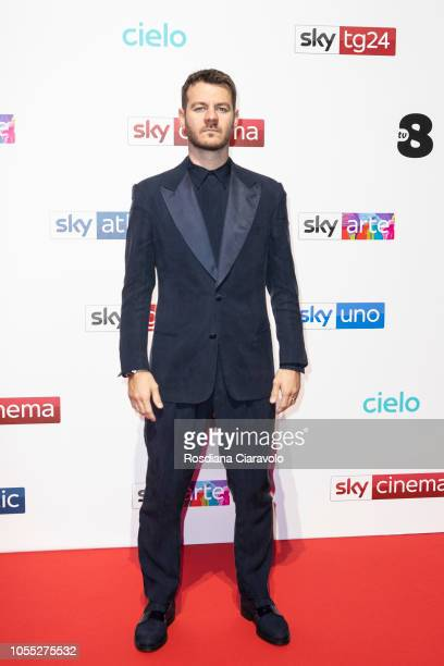 Alessandro Cattelan attends the Sky Show Schedule Presentation at Palazzo Del Ghiaccio on October 29 2018 in Milan Italy