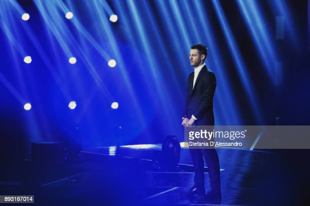 Alessandro Cattelan attends the X Factor 11 finale on December 14 2017 in Milan Italy