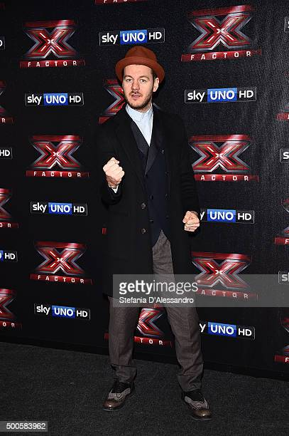 Alessandro Cattelan attends the 'X Factor' Press Conference on December 9 2015 in Milan Italy