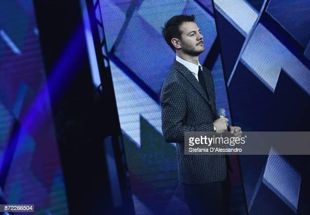 Alessandro Cattelan attends X Factor 11 tv show on November 9 2017 in Milan Italy