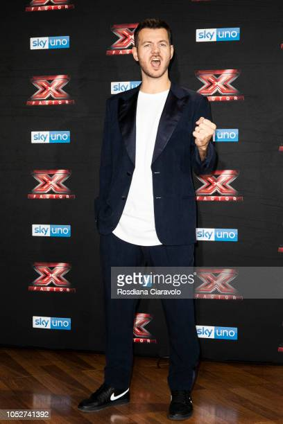 Alessandro Cattelan attends X Factor 2018 photocall at Teatro Linear Ciak on October 22 2018 in Milan Italy