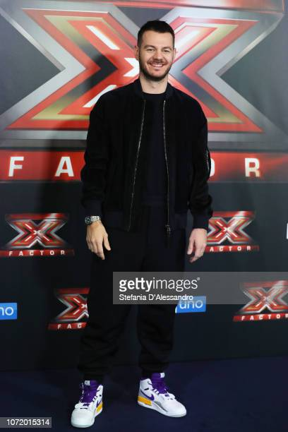 Alessandro Cattelan attends X Factor 2018 Photocall on December 12 2018 in Milan Italy