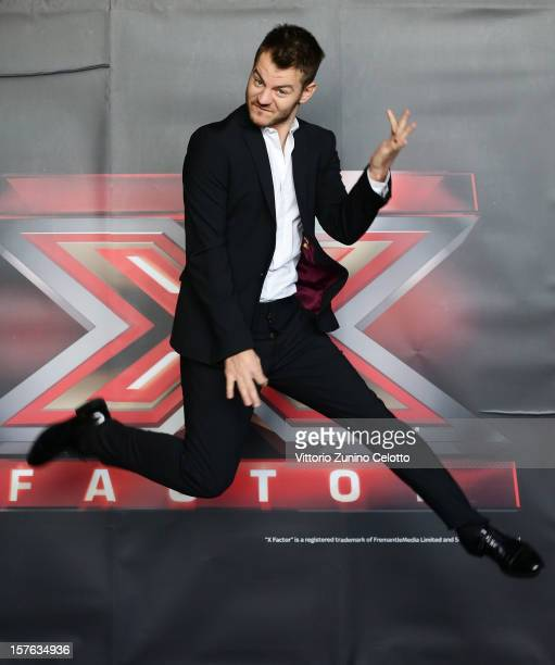Alessandro Cattelan attends 'X Factor' Italian TV Show press conference on December 5, 2012 in Milan, Italy.