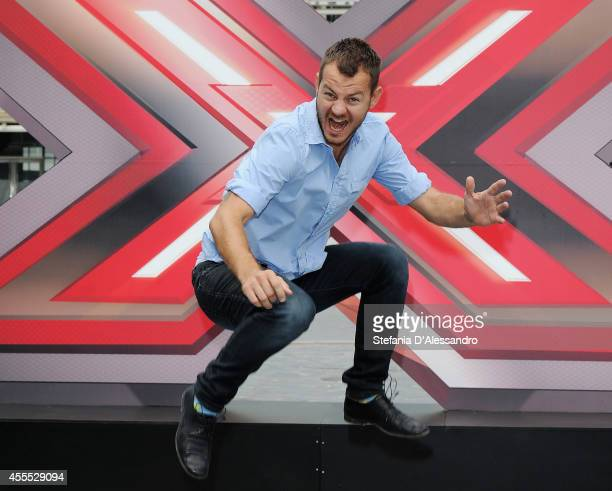 Alessandro Cattelan attends 'X Factor' photocall on September 16 2014 in Milan Italy