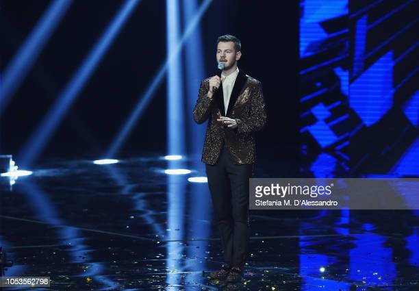 Alessandro Cattelan attends X Factor tv show at Teatro Linear Ciak on October 25 2018 in Milan Italy
