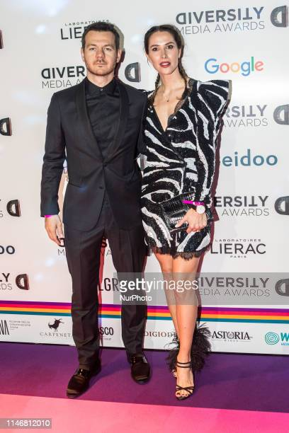 Alessandro Cattelan, Ludovica Sauer attend the Diversity Media Awards Charity Gala Dinner, Italy, on May 28 2019
