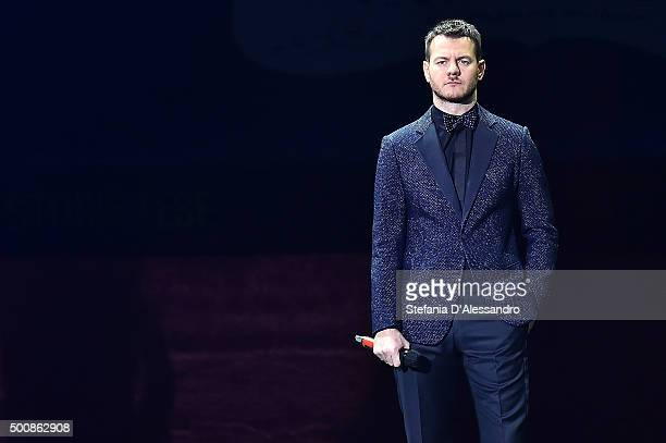 Alessandro Cattelan the final of 'X Factor' Tv Show on December 10 2015 in Milan Italy