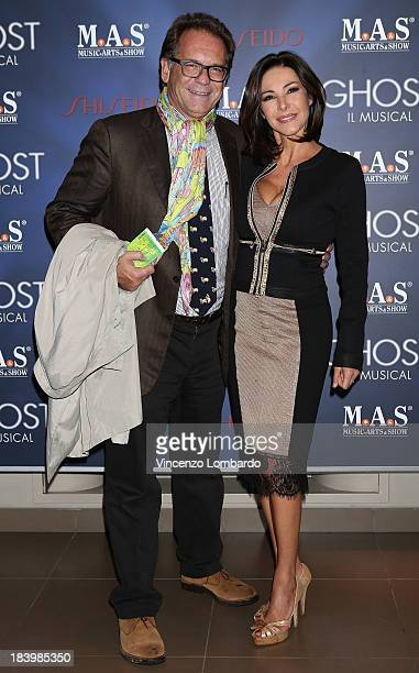 Alessandro Cecchi Paone and Emanuela Folliero attend the opening night of Ghost The Musical at the Teatro Nazionale on October 10 2013 in Milan Italy