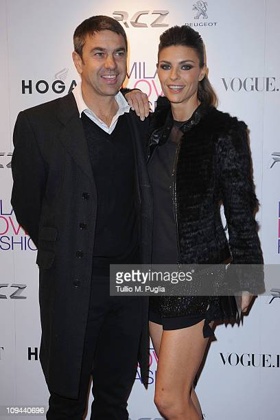 Alessandro Costacurta and Martina Colombari attend the Duran Duran dinner and concert at the Teatro dal Verme as part of Milan Fashion Week...