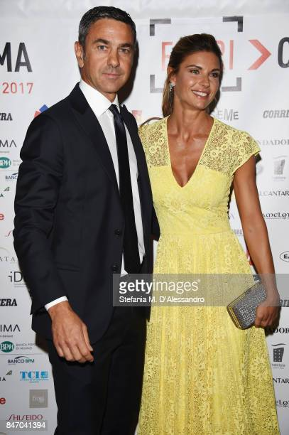 Alessandro Costacurta and Martina Colombari attend the Gala Dinner of FuoriCinema on September 14 2017 in Milan Italy
