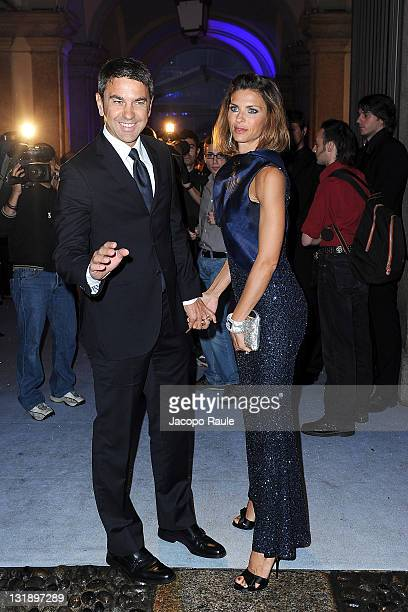 Alessandro Costacurta and Martina Colombari attend the Swarovski Fashionation at Palazzo Reale on June 7 2011 in Milan Italy
