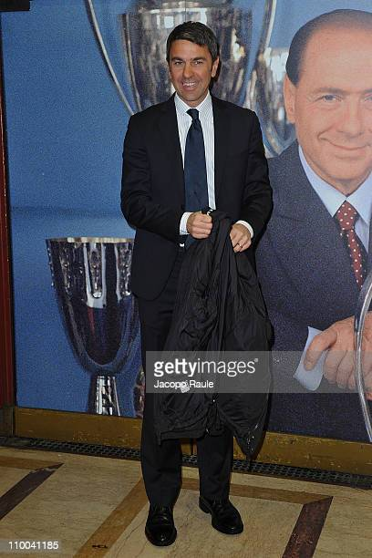 Alessandro Costacurta attends AC Milan Marks 25th Anniversary Of Berlusconi's Presidency Party Arrivals at Teatro Manzoni on March 13 2011 in Milan...