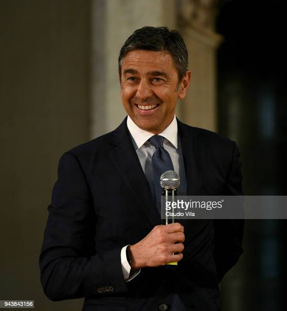 Alessandro Costacurta attends Italian Football Federation Hall Of Fame on April 9 2018 in Florence Italy
