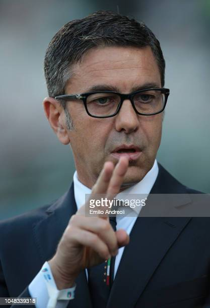 Alessandro Costacurta Commissioner of FIGC looks on prior to the International Friendly match between Italy Women and Sweden Women at Stadio Giovanni...