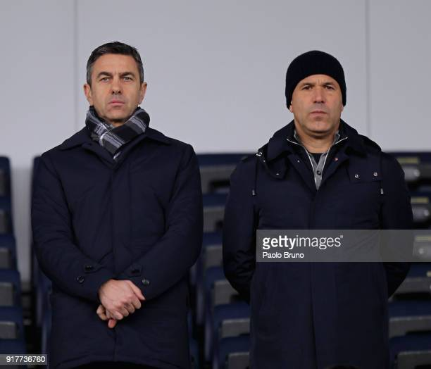 Alessandro Costacurta of FIGC and Italy head coach Luigi Di Biagio look on during the friendly match between Italy U20 and Team Lega B on February 13...