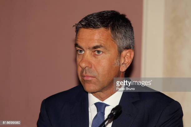 Alessandro Costacurta of FIGC attends the press conference 'School And Football' on July 19 2017 in Rome Italy