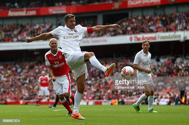 Alessandro Costacurta of Milan Glorie during the Arsenal Foundation Charity match between Arsenal Legends and Milan Glorie at Emirates Stadium on...